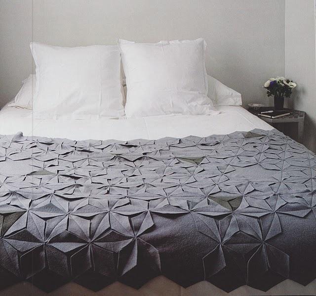 Origami szerű ágytakaró